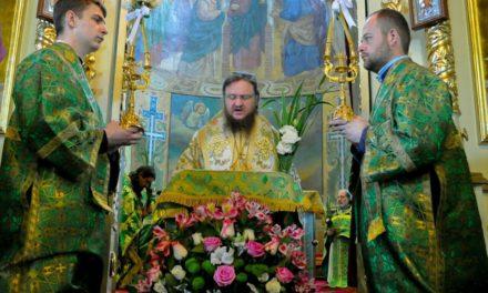 Архиепископ Феодосий совершил праздничное богослужение в День Святой Троицы