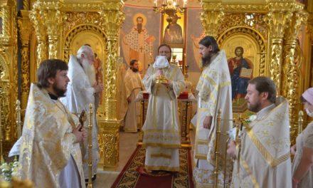 Архиепископ Феодосий совершил Литургию в праздник Рождества Иоанна Крестителя (+ВИДЕО)