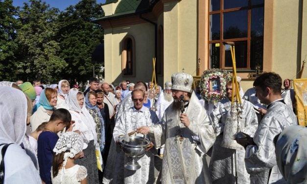 Архієпископ Феодосій вшанував ікону «Чорнобильський Спас»