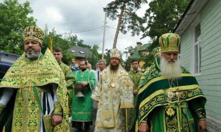 Архієпископ Феодосій очолив богослужіння престольного свята у храмі прп.Серафима Саровського
