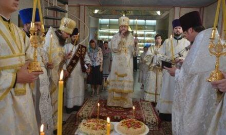 Архієпископ Феодосій звершив заупокійне богослужіння в річницю по представленні монахині Таїсії (Тимошенко)