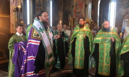 Архієпископ Феодосій очолив соборний акафіст прпмч.Макарію біля його святих мощів