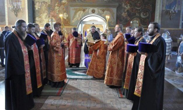 Архиепископ Феодосий совершил Литургию в день памяти Усекновения главы Иоанна Предтечи