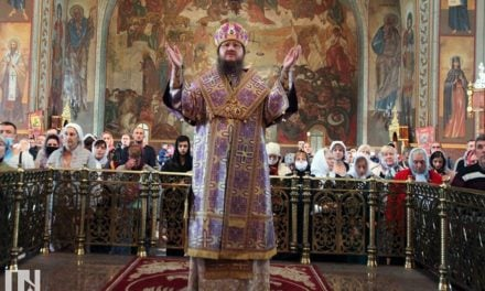 Архієпископ Феодосій очолив Літургію у день свята Воздвиження Хреста Господнього