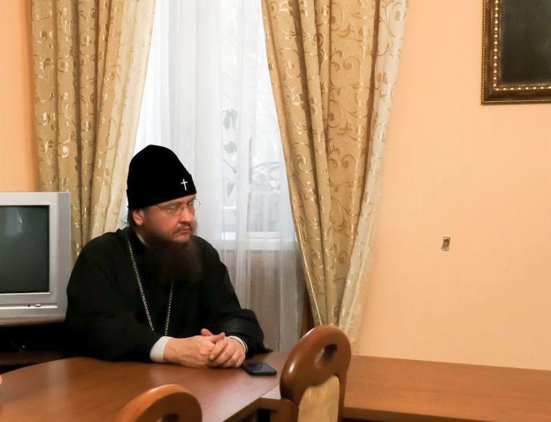 Архієпископ Феодосій взяв участь у засіданні кафедри Церковно-практичних дисциплін КДАіС