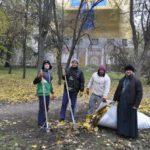 Соборный парк убран совместными усилиями верующих черкасщан