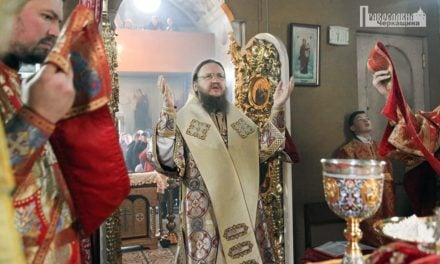 У день пам'яті святого великомученика Димитрія Солунського архієпископ Феодосій служив у Драбові