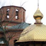 По благословению архиепископа Феодосия освящен и установлен центральный купол на храме святых новомучеников и исповедников Черкасских в Смеле