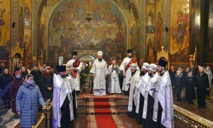 Архієпископ Черкаський і Канівський Феодосій звершив Велику вечірню у день Різдва Христового