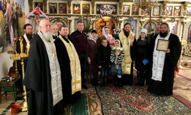 Архієпископ Феодосій звершив хрещення доньки священика