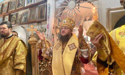 Архиепископ Феодосий совершил Литургию в Преображенском храме Дахновки (Черкассы)