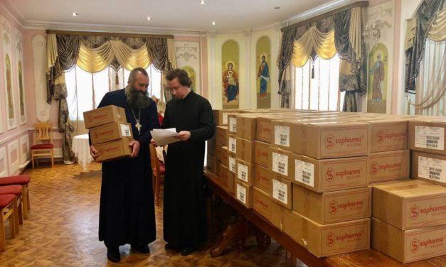 Черкаська єпархія благодійно передала медикаменти в усі лікарні Черкас, храми і монастирі єпархії
