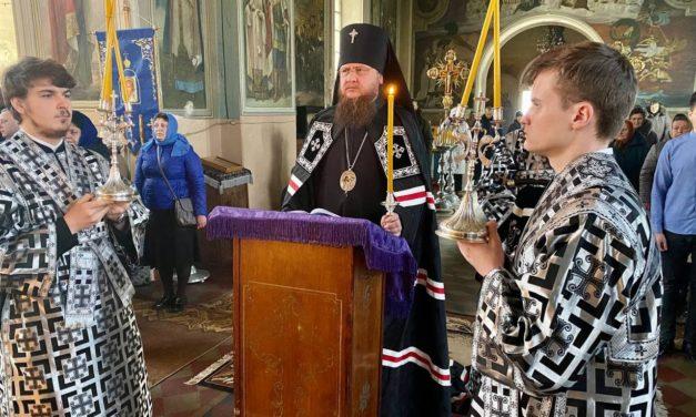 Архиепископ Феодосий совершил чтение Покаянного канона прп.Андрея Критского в Успенском соборе г.Золотоноша