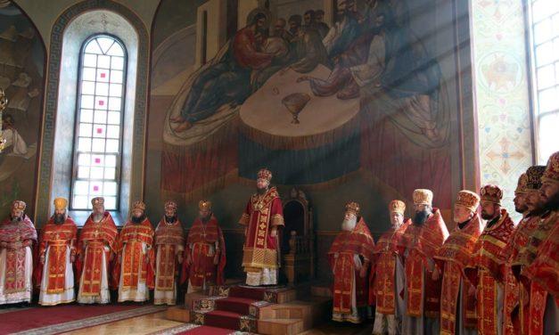 Состоялись общая исповедь и соборная Литургия духовенства Черкасского благочинного округа