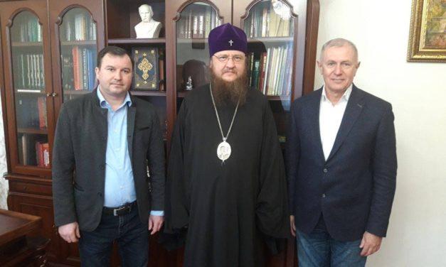 Архиепископ Феодосий встретился с руководством Черкасского государственного бизнес-колледжа