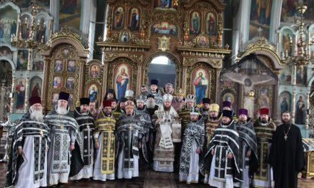 Состоялись общая исповедь и соборная Литургия духовенства Золотоношского и Каневского благочинных округов Черкасской епархии