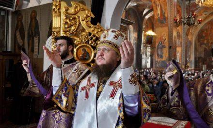 Архиепископ Черкасский и Каневский Феодосий совершил Литургию в Неделю 5-ю Великого поста
