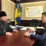 Архієпископ Черкаський і Канівський Феодосій зустрівся з губернатором Черкаської області
