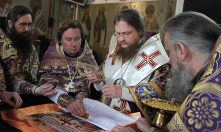 Архиепископ Черкасский и Каневский Феодосий совершил освящение Антиминсов для Черкасской епархии