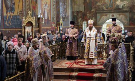 Архиепископ Феодосий совершил Литургию в Великий Четверг