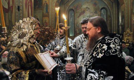 Високопреосвященніший архієпископ Феодосій звершив утреню Великої Суботи з чином поховання Плащаниці