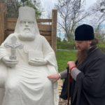 Архієпископ Феодосій ознайомився з ходом виготовлення пам'ятника свт.Луці Кримському для м.Черкаси