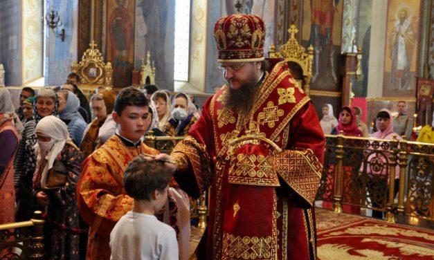 Архиепископ Черкасский и Каневский Феодосий совершил всенощное бдение накануне Недели 4-й по Пасхе