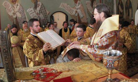 Архиепископ Феодосий почтил память преподобного Сергия Радонежского и рукоположил еще одного клирика для Черкасской епархии