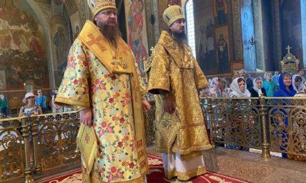Архиепископ Черкасский и Каневский Феодосий возглавил всенощное бдение накануне Недели 5-й по Пятидесятнице