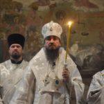 Всенощное бдение накануне  праздника Преображения Господня в Архангело-Михайловском кафедральном соборе г.Черкассы