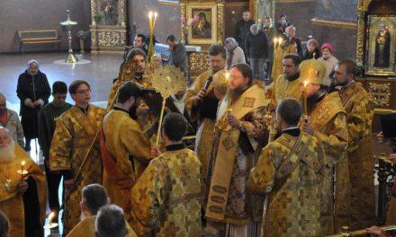 Митрополит Черкасский и Каневский Феодосий возглавил всенощное бдение накануне Недели 15-й по Пятидесятнице