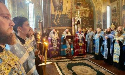 Соборний архієрейський акафіст преподобномученику Макарію в кафедральному соборі Черкас