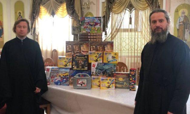 Відділ з благодійності Черкаської єпархії передав набори для малювання в «Черкаський навчально-реабілітаційний центр»